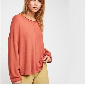 nwt//free people be good terry pullover sweatshirt